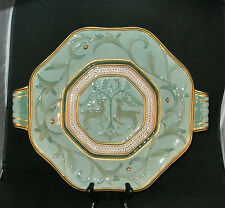 "Fitz & Floyd Christmas Clairmont platter huge decorative plate 16 1/2"" classy"