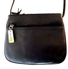 GIANI BERNINI Genuine Leather Black Crossbody Shoulder Bag 13711