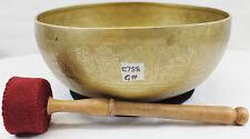 "E758 Energetic Throat 'G' Chakra Healing Tibetan Singing Bowl 11"" Made in Nepal"