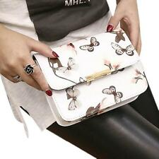 Women Vintage Floral Shoulder Bags Ladies Leather Satchel Messenger Bag Handbag
