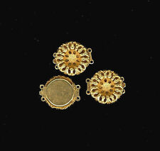 2 RICH 24K Gold Plated Beadable 2-Strand Clasps To Match Haskell Stampings 19mm