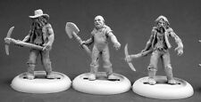 Zombie Miners Reaper Miniatures Chronoscope D&D Dungeon Wargames RPG ATZ