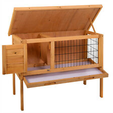 "35"" Wooden Chicken Coop Hen House Pet Animal Poultry Cage Rabbit Hutch w/Run"