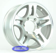 "(2)- Boat Trailer Wheels Rims 15"" ALUMINUM Split Spoke 6 on 5 1/2"" Bolt Pattern"