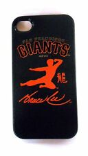 NEW Bruce Lee Kung Fu Flying Kick SF Giants Phone Holder Protector iPhone 4 / 4S