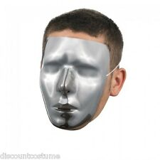 BLANK MALE CHROME MASK JABBAWOCKEEZ ADULT HALLOWEEN COSTUME ACCESSORY ONE SIZE