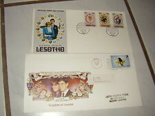 fdc etb Lesotho Südafrika Southafrica africa 2 covers Briefe fdcs 1981