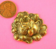 VINTAGE DESIGN BEAUTIFUL ANTIQUE BRASS ORNATE ROSE-1PC