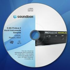 E-MU Proteus 3 World Instruments Logic EXS24 Reason SXT WAV Synth Samples CD-ROM