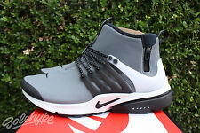 NIKE AIR MID PRESTO UTILITY SZ 9 GREY BLACK WHITE VOLT WATERPROOF 859524 001