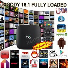 Quad Core MXQ Smart TV BOX Latest 16.1 Fully Loaded Android WiFi Free Sports NEW