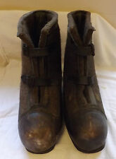 An Original WWII Military Pair Of German Felt Boots Winter Overboots  (2579)