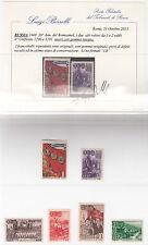 RUSSIA 1948 30° ANNIVERSARIO KOMSOMOL  6 VALORI NUOVA CERIFICATO BORRELLI MNH**