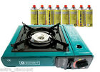 Marksman Portable Gas Stove Cooker Camping Fishing With 8 Butane Gas Refills
