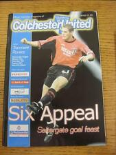 18/08/2001 Colchester United v Tranmere Rovers  (No Obvious Faults)