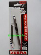 Zebra Telescopic Stylus Ballpoint Pen iPad Tablet Smartphone Black + Black Ink