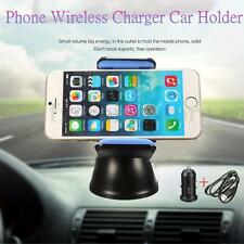 Qi Wireless Car Charger Transmitter 360° Dashboard Holder For iPhone 6S 6 + 5S 5