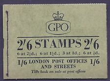 sg F42a 2'6 Wildings GPO booklet with all panes & 3 Edward panes inv MNH