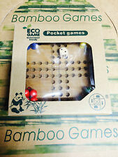 LUDO BAMBOO GAME ECO SERIES POCKET GAMES BRAIN TEASER MIND PUZZLE NOVELTY TOY