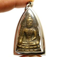 1942 BUDDHA CHINNARAJ INDOCHINE THAI AMULET SUPER STRONG LIFE PROTECTION PENDANT