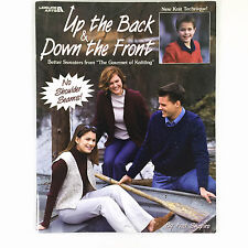 Up The Back & Down The Front Knit Sweaters Patterns Leisure Arts 3412 Shapiro