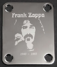GUITAR NECK PLATE Custom Engraved Etched - FRANK ZAPPA - CHROME