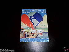 VINTAGE PAM AM - AIRWAYS SYSTEM AD - SEALED WITH PLEXGLAS