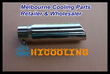 """3"""" inlet Stainless bolt on rolled round angle cut Exhaust tailpipe Tip 12"""" long"""