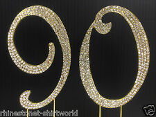 Gold  Rhinestone  NUMBER (90) Cake Topper 90th Birthday Party Anniversary