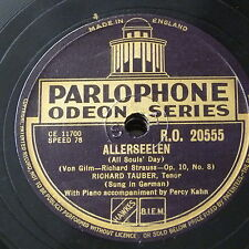 78rpm RICHARD TAUBER allerseelen / ich trage meine minne - richard strauss