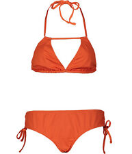VIOLET LAKE LONDON Galore Solitaire Tangerine Halterneck Bikini Set BNWT