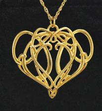 Necklace Lord Rings LOTR Gold Celtic Elven Pendant Fantasy Elrond King Elf New