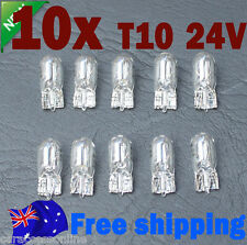 10x T10  halogen bulb 24v Indicator parker dome dash Wedge bulb globe light w5w