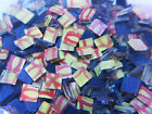 100 Blueriverglass YELLOW and RED  Mosaic Glass Tiles SUPPLIES