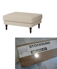 Ship fr TEXAS IKEA STOCKSUND FOOTSTOOL Replacement Slipcover NOLHAGA Light Beige