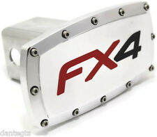 "Ford FX4 2"" Tow Hitch Cover Plug Engraved Billet Aluminum"