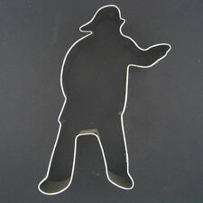 "FIREMAN STANDING 4.5"" METAL COOKIE CUTTER FIREFIGHTER FIREMEN HELMET HOSE NEW"
