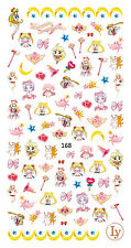 90 Japanese Anime Sailor Moon 3D Nail Art Sticker Decals for Nail Polish 13*6cm