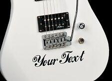 2x Personalizzato In Vinile Decalcomania. per chitarra, TAMBURI SAX CASE. SCEGLI Colori e font