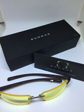 GUNNAR OPTIKS SW0712 002 Edge Glasses Rimless With Espresso Earpieces With Box