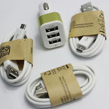 Dual Car Charger +3 Micro USB Cable for Samsung Galaxy Tab 3 T310 T110 7.0 inch