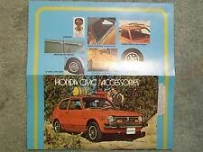 1975 HONDA ACCESSORIES  BROCHURE