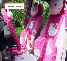 22pcs Hello Kitty Head Comfortable Rose Car Seat Covers Car Interior Accessories