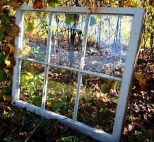 VINTAGE SASH ANTIQUE WOOD WINDOW PICTURE FRAME PINTEREST WEDDING 6 PANE 32 x 24
