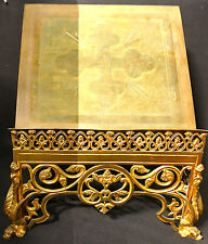 GILDED GOTHIC LECTERN ADORNED WITH WINGED DRAGONS (FROM DORN)