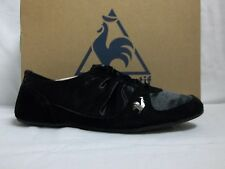 Le Coq Sportif Size 6 M Bagatelle Satin Black Flats Oxfords New Womens Shoes
