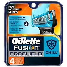 Gillette Fusion ProShield Razor Refill Cartridges, Chill 4 ea (Pack of 4)