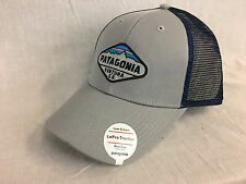NEW PATAGONIA CREST TRUCKER HAT GREY LOPRO FAST SHIP W/ TAGS CAP SNAP BACK