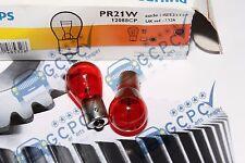 PHILIPS 12V 21W PR21W ROSSO FARO POSTERIORE / SEMAFORO LAMPADINA COPPIA SAAB /