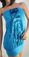 Sexy Stretchy Women's Perfect Lingerie Sequin Mini Tube Dress Clubwear M-3XL US